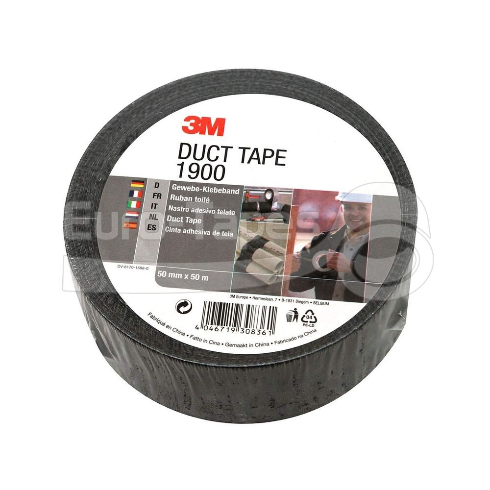 Duct tape 3M 1900 50mmx50m fekete